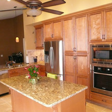 Mediterranean Kitchen by AAKB Inc. Custom Cabinetry