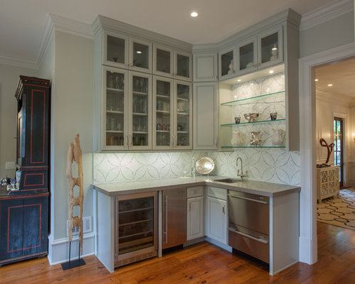 Amazing Example Of A Classic Kitchen Design In Atlanta With An Undermount Sink,  Glass Front