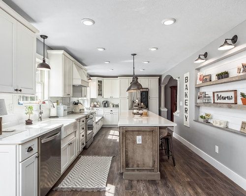 Our 50 Best Farmhouse Kitchen with Subway Tile Backsplash Ideas ...