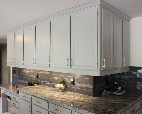 Painted Oak Cabinets Home Design Ideas, Pictures, Remodel ...