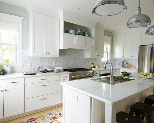 White Shaker Kitchen Cabinets Home Design Ideas, Pictures ...