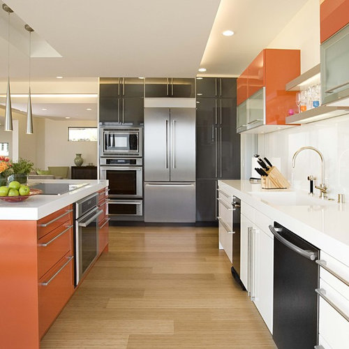 Contemporary Kitchen Designs Inspiration For A Galley Bamboo Floor Remodel In San Francisco