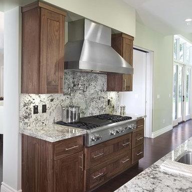 Dark Cabinets Light Granite Kitchen Design Ideas & Photos