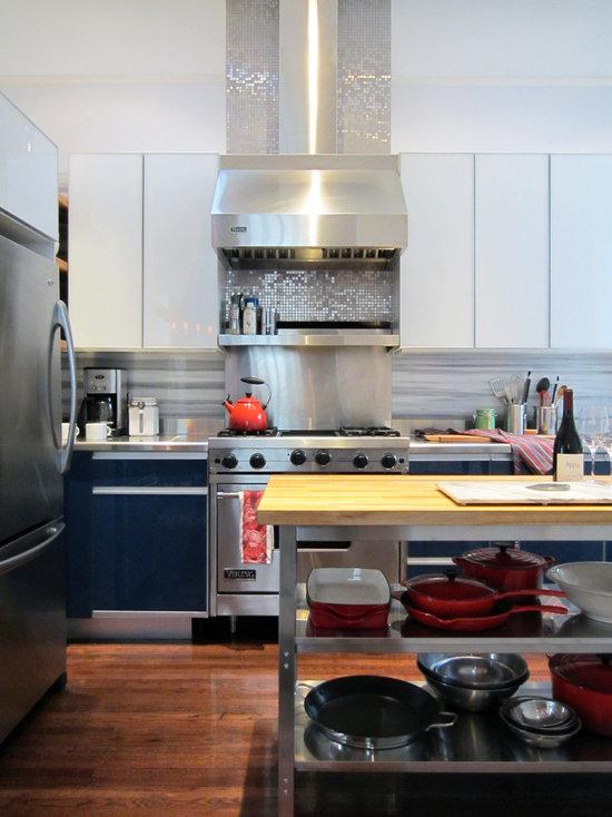 Kitchen Backsplash Silver silver mosaic tile backsplash   houzz