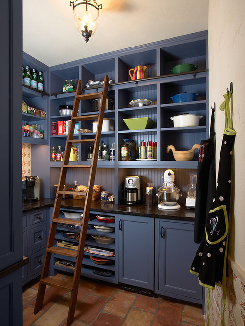 Blue Painted Kitchens blue painted cabinets | houzz