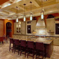 Transitional Kitchen by Sweetlake Interior Design LLC