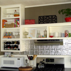 Eclectic Kitchen Kitchen - new wall color
