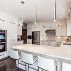 Quartz Countertop With Backsplash Kitchen Toronto By