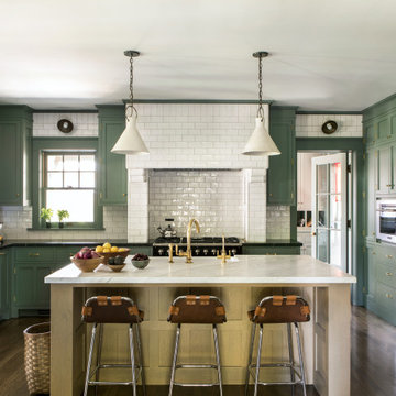 Kitchen of a historic Craftsman residence in Santa Monica, CA