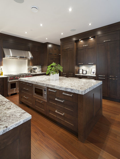 Transitional kitchen by old world kitchens custom cabinets for Veneer for kitchen cabinets