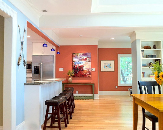 salmon-colored walls | houzz