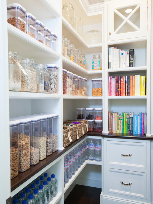 mid sized traditional kitchen pantry designs example of a mid sized classic kitchen - Pantry Design Ideas