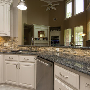 Kitchen | Painted Cabinets & Walls | New Modern Tile Floors