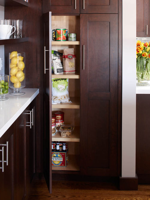 Best Narrow Pantry Cabinet Design Ideas & Remodel Pictures | Houzz