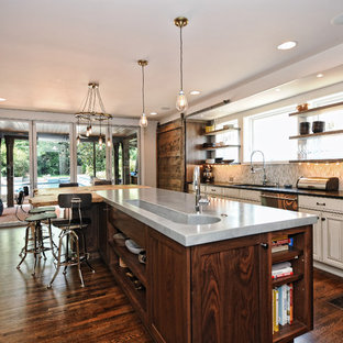 Inspiration for a rustic kitchen remodel in Charlotte