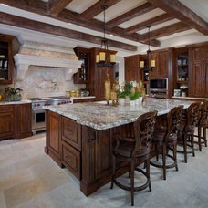Transitional Kitchen by Wesley Design Inc.