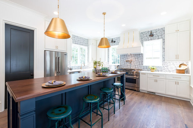 Eclectic Kitchen by Pike Properties