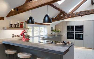Old Meets New in a Restored English Farmhouse Kitchen