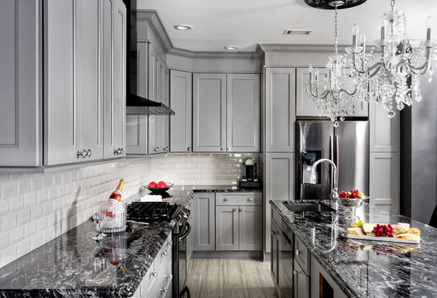 Fusion Kitchen by Wood Kitchen and Bath