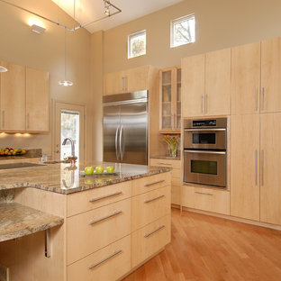 Magnificent Maple Cabinet Kitchen Houzz Home Interior And Landscaping Elinuenasavecom