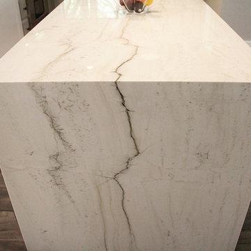 Kitchen Quartzite/Engineered Quartz (Mont Blanc & Concrete)