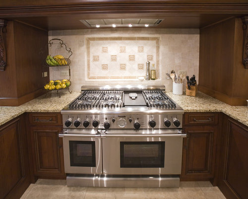 Oven backsplash houzz for Kitchen cabinet packages