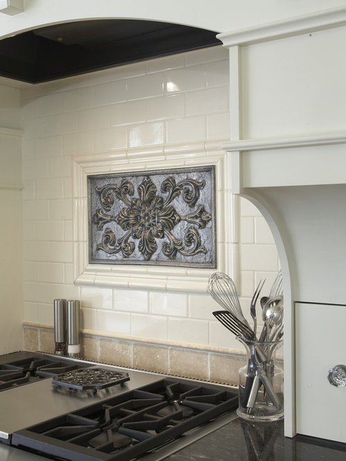 tile medallions for kitchen backsplash medallion backsplash houzz 5961
