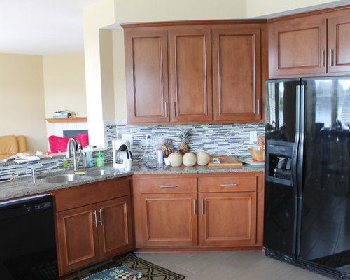 Kitchen Reface In Alder with Cayenne Stain
