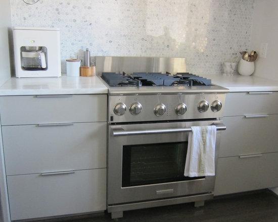 Modern Kitchen Marble Backsplash hexagon marble backsplash | houzz