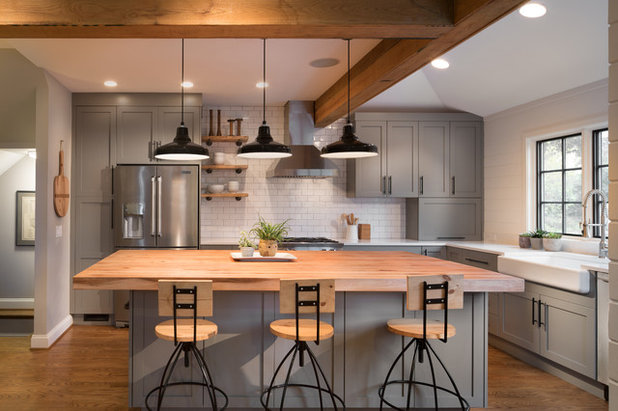 Transitional Kitchen by Four Brothers Design + Build