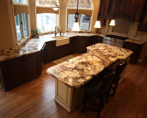 Best Splendour Gold Granite Kitchen Design Ideas & Remodel Pictures ...