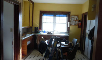 kitchen remodel before and just getting started.