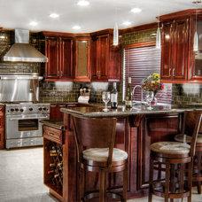 Transitional Kitchen by Kaminskiy Design and Remodeling