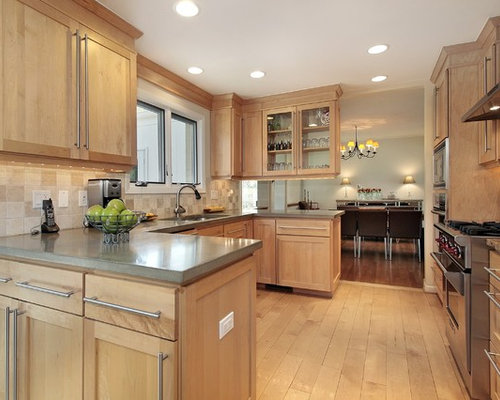 Natural Maple Cabinets Home Design Ideas, Pictures ... on Light Maple Cabinets With White Countertops  id=78878