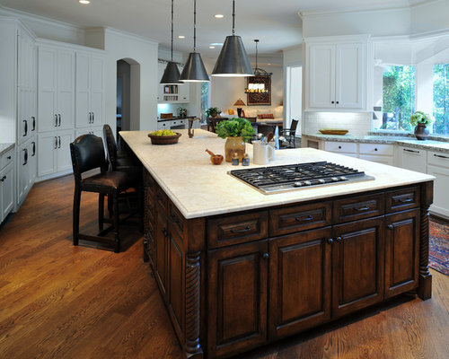 Island cooktop houzz Kitchen design center stove