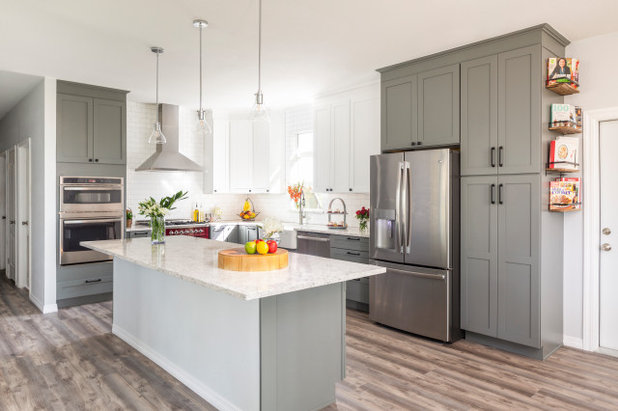 Transitional Kitchen by Christie's Design Build Remodeling