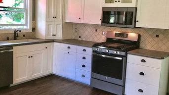 Kitchen Remodel Done With Painted Cabinets and A Laminate Countertop