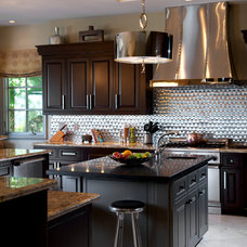 Transitional Kitchen by Dora Brigham Interiors