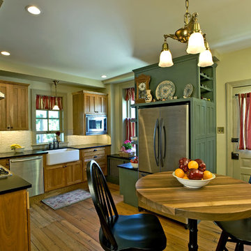 Kitchen Remodel:  Eclectic / Farmhouse Kitchen with Breakfast Nook
