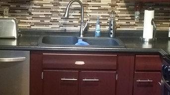 Kitchen Remodel: Floors, Backsplash, Counter-tops, and Cabinets