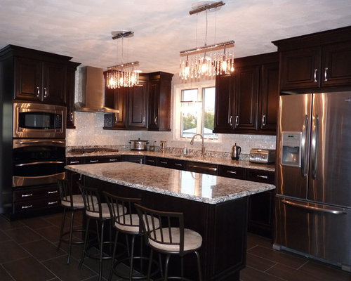 stainless kitchen cabinet pearl granite houzz 2466