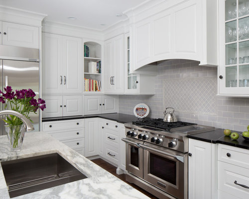 Light Gray Backsplash Houzz