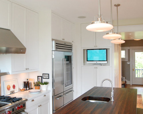 Kitchen computer home design ideas pictures remodel and for Computer in kitchen ideas