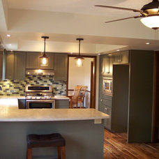 Eclectic Kitchen by GTF Construction Concepts