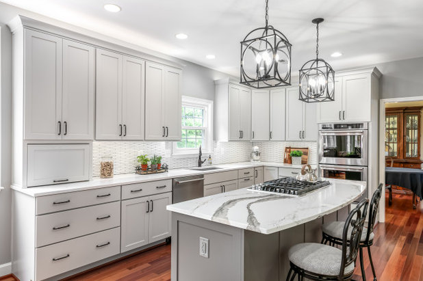 Transitional Kitchen by FA Design Build