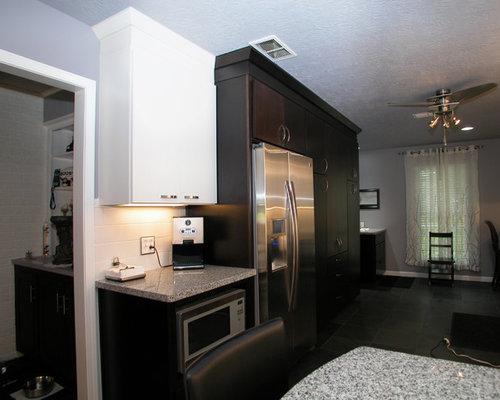 Black kitchen design ideas renovations amp photos with slate flooring