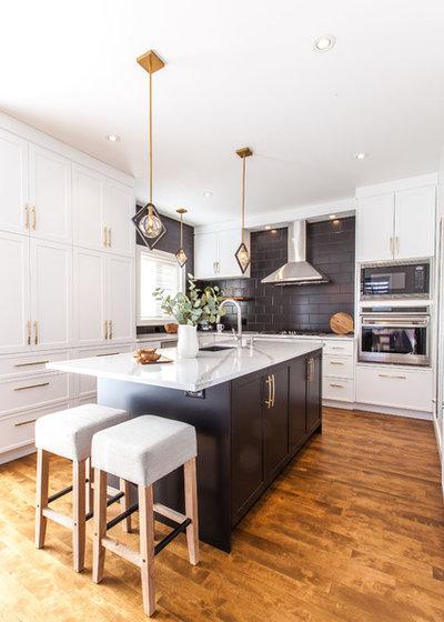 Transitional Kitchen by KaBé Staging & Design