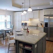 Transitional Kitchen by Kitchens by Custom Cabinet
