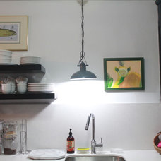 Eclectic Kitchen Kitchen Remodel - Knotty Pine