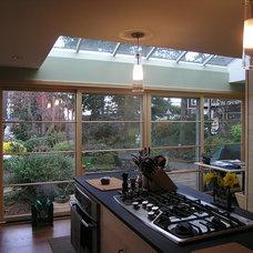 Eclectic Kitchen by Lathrop Douglass Architect
